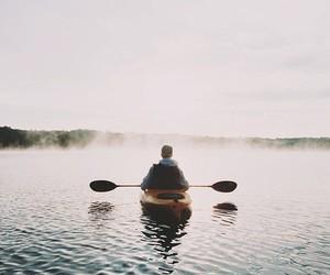lake, nature, and boat image