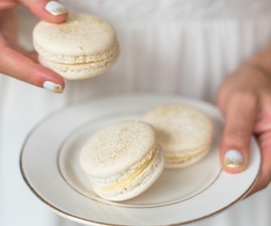 food and macarons image