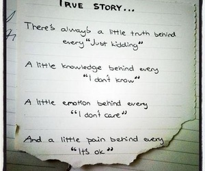 story, true story, and letters. image
