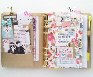 agenda, planner, and cute image