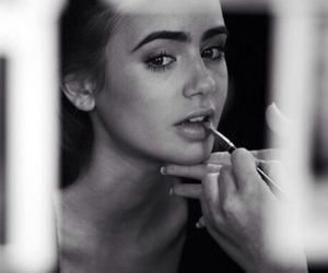 lily collins, makeup, and model image