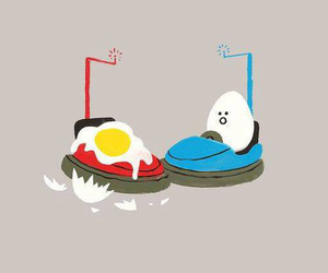 funny, egg, and eggs image
