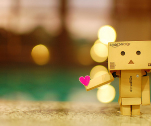 love, danbo, and heart image