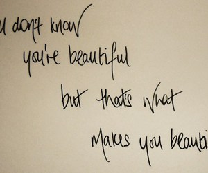 Lyrics, text, and what makes you beautiful image