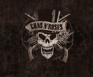 Guns N Roses, rock, and gun image