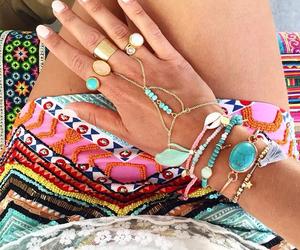 aqua, bead, and beads image
