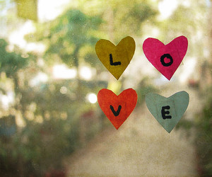bokeh, hearts, and love image
