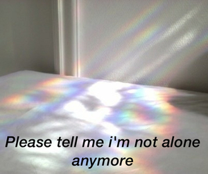 alone, please, and rainbow image