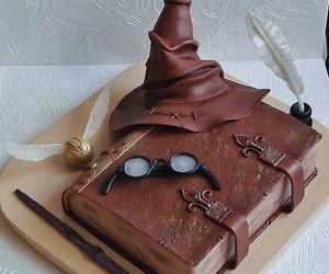 cake, magic, and hogwards image