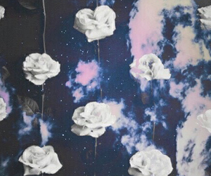 background, flowers, and space image