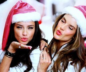 Adriana Lima, Victoria's Secret, and christmas image