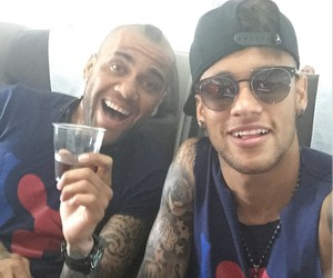 dani alves, neymar, and neymar jr image