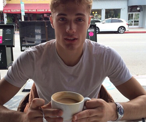boy, Hot, and coffee image