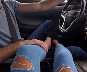 car, couple, and goals image