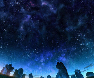 anime, stars, and city image