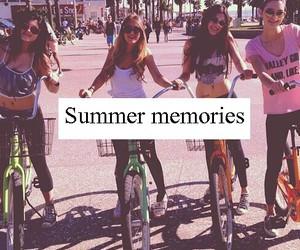 memories, summer, and bike image