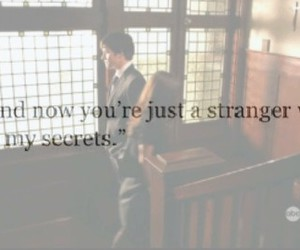 heart broken, secrets, and stranger image
