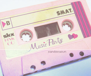 pink, music, and vintage image