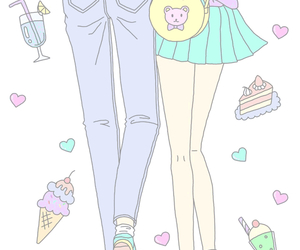 pastel, cute, and couple image