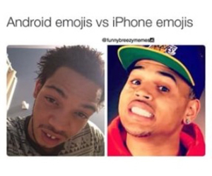 android, chris brown, and funny image