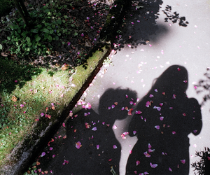 flowers, couple, and shadow image