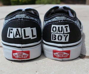 vans, fall out boy, and band image