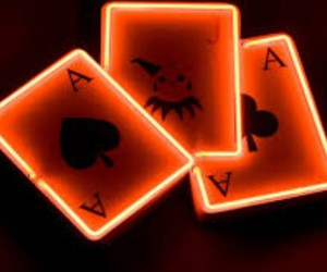 cards and neon image