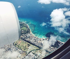 sky, sea, and travel image