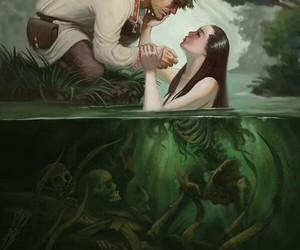 art, mermaid, and fantasy image