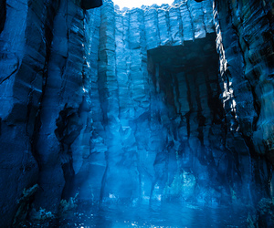 blue, nature, and cave image