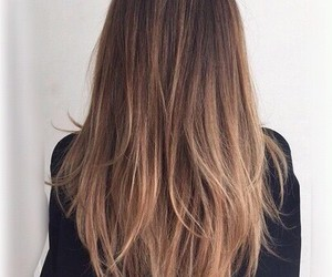 hair, brunette, and blonde image