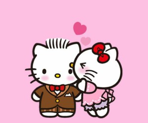 hello kitty, wallpaper, and love image