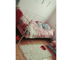 bed, girl, and home image