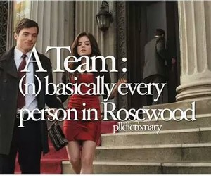 a team, pretty little liars, and rosewood image