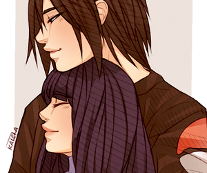 sasuhina, naruto, and anime image