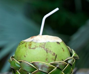 beverage, coconut, and healthy image