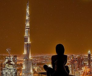 girl, beautiful, and Dubai image