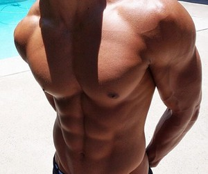 hot boy, Hottie, and muscles image