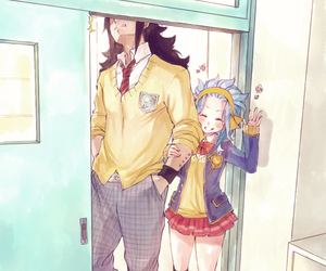 anime, couple, and levy image