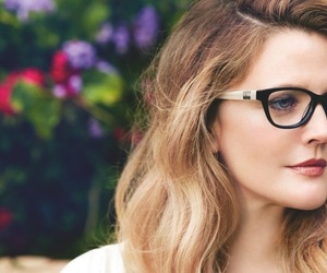 beautiful, drew barrymore, and glasses image