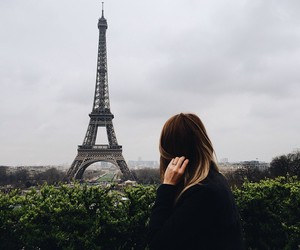eiffel tower, girl, and fashion image