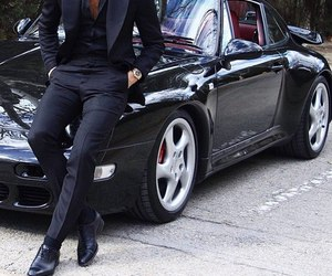 car and man image