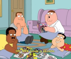 nick jonas, family guy, and funny image