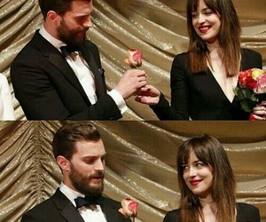Jamie Dornan, couple, and dakota johnson image