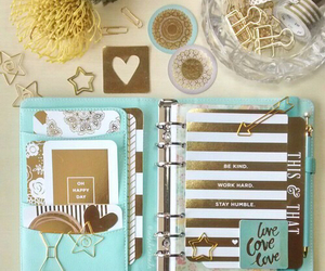 gold and planner image