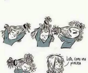 hair, princess, and hairstyles image