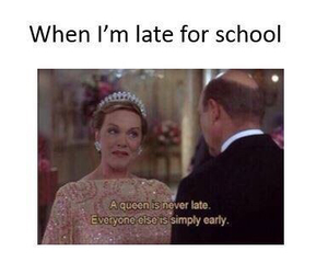 school, funny, and Queen image