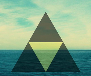 hipster, triangle, and sea image