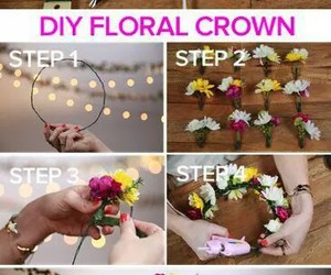 creative, crown, and floral image