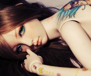 bjd, girl, and tattoo image